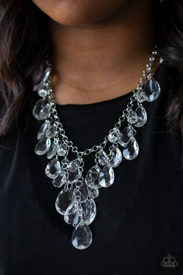 Irresistible Iridescence - Paparazzi White Necklace - BlingbyAshleyNicole