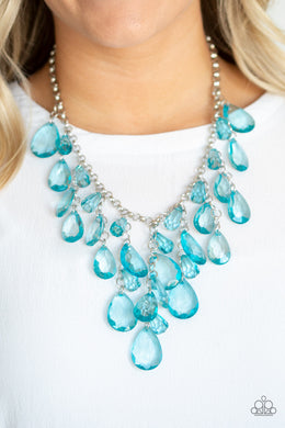 Irresistible Iridescence - Paparazzi Blue Necklace - BlingbyAshleyNicole