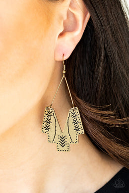 Arizona Adobe - Brass Earrings - BlingbyAshleyNicole