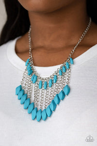 Venturous Vibes - Paparazzi Blue Necklace - BlingbyAshleyNicole