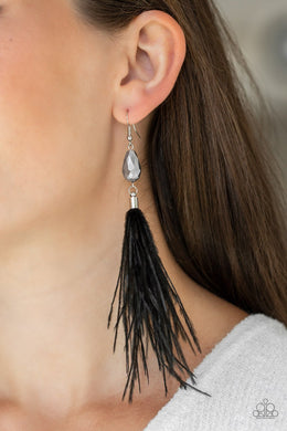 Showgirl Showcase - Black Earrings - BlingbyAshleyNicole