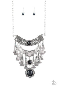 Sahara Royal - Paparazzi Black Necklace - BlingbyAshleyNicole