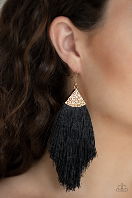 Tassel Tempo - Paparazzi Gold Earrings - BlingbyAshleyNicole