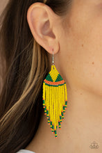 Load image into Gallery viewer, BEADazzle Me - Yellow Earrings - BlingbyAshleyNicole