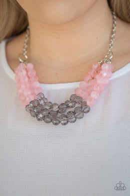Summer Ice - Paparazzi Pink Necklace - BlingbyAshleyNicole