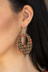 Put A Cork In It  - Black Earrings - BlingbyAshleyNicole