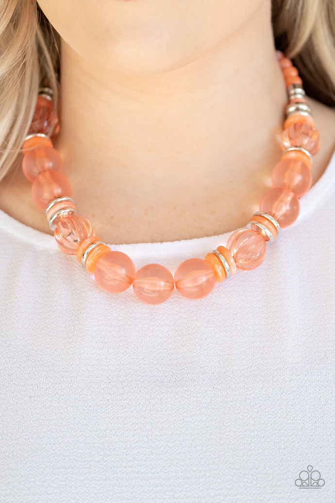Bubbly Beauty - Paparazzi Orange Necklace - BlingbyAshleyNicole