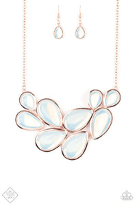 Iridescently Irresistible | Paparazzi Rose Gold Necklace - BlingbyAshleyNicole