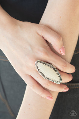 Mineral Mine - Paparazzi White Ring - BlingbyAshleyNicole