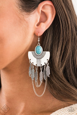 Sure Thing, Chief - Paparazzi Blue Earring - BlingbyAshleyNicole