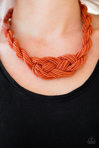 A Standing Ovation | Paparazzi Orange Necklace - BlingbyAshleyNicole