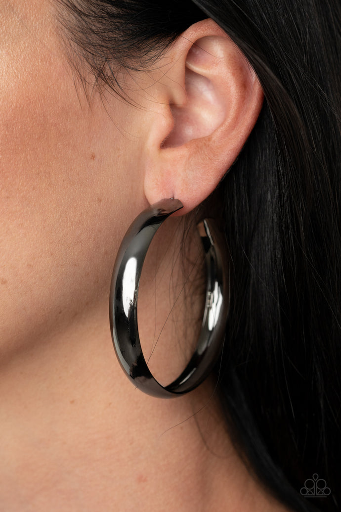 Paparazzi Black Earrings | BEVEL Into It - BlingbyAshleyNicole