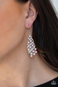 Ballroom Waltz - Paparazzi Pink Earrings - BlingbyAshleyNicole