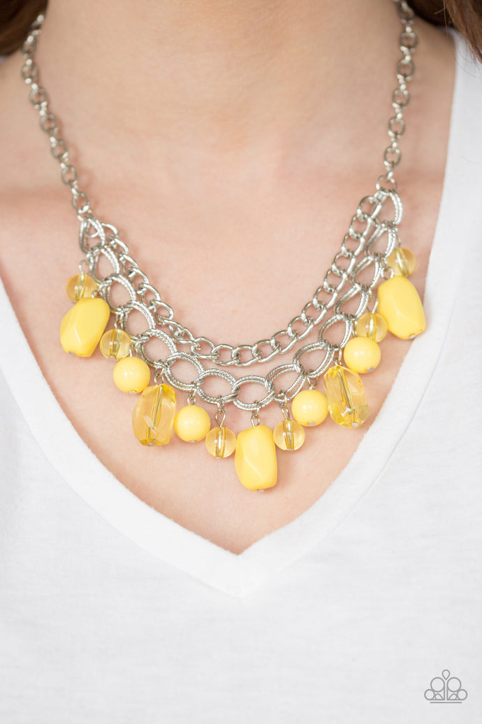 Brazilian Bay - Paparazzi Yellow Necklace - BlingbyAshleyNicole