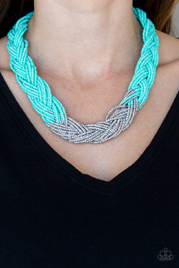 Brazilian Brilliance - Paparazzi Blue Necklace - BlingbyAshleyNicole