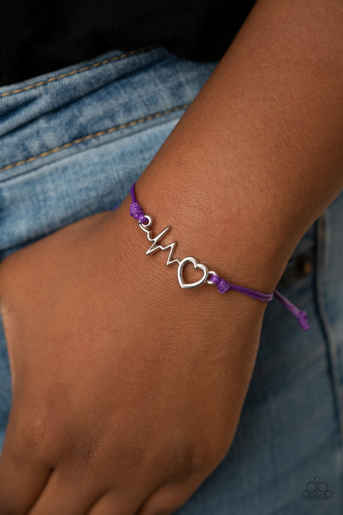 Cardiac Couture | Paparazzi Purple Bracelet - BlingbyAshleyNicole