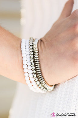 Color Coordination - White Bracelet - BlingbyAshleyNicole