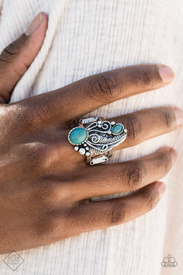 Desert Nest - Paparazzi Blue Ring - BlingbyAshleyNicole