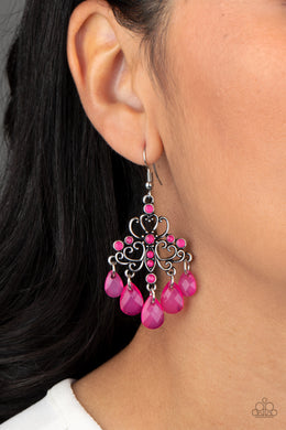 Dip It Glow - Paparazzi Pink Earrings - BlingbyAshleyNicole