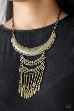 Eastern Empress | Paparazzi Brass Necklace