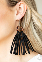 Load image into Gallery viewer, Easy To PerSUEDE - Paparazzi Black Earrings - BlingbyAshleyNicole