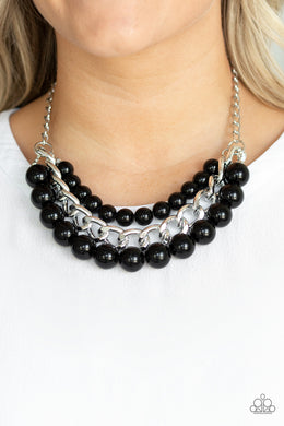 Empire State Empress - Paparazzi Black Necklace - BlingbyAshleyNicole