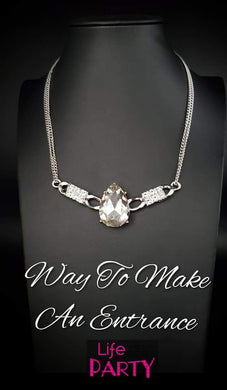 Way to Make an Entrance - Paparazzi White Necklace - BlingbyAshleyNicole