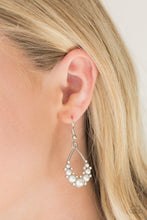 Load image into Gallery viewer, Fancy First | Paparazzi White Earring - BlingbyAshleyNicole
