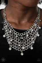 Load image into Gallery viewer, Fishing For Compliments | Paparazzi Silver Necklace - BlingbyAshleyNicole
