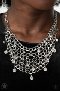 Fishing For Compliments | Paparazzi Silver Necklace - BlingbyAshleyNicole
