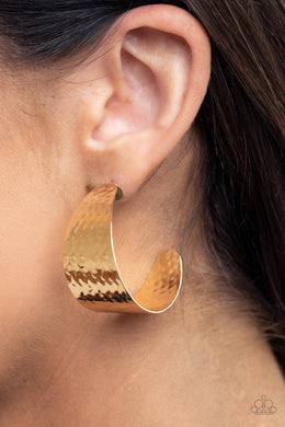 Flatten The Curve | Paparazzi Gold Earrings - BlingbyAshleyNicole