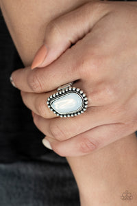 For ETHEREAL! - Paparazzi White Ring - BlingbyAshleyNicole