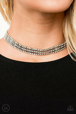 Full REIGN | Paparazzi White Necklace - BlingbyAshleyNicole