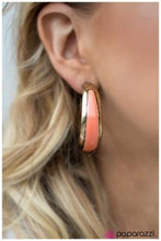 Load image into Gallery viewer, Gypsy Rumba - Paparazzi Peach Hoop Earring - BlingbyAshleyNicole