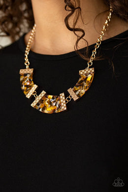 HAUTE - Blooded - Paparazzi Yellow Necklace - BlingbyAshleyNicole