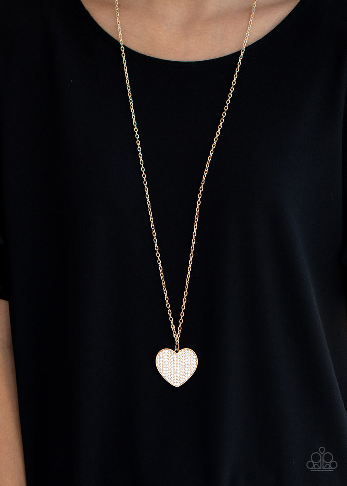Have To Learn The HEART Way - Paparazzi Gold Heart Necklace - BlingbyAshleyNicole