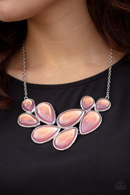 Iridescently Irresistible | Paparazzi Pink Necklace - BlingbyAshleyNicole