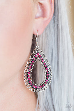 Mechanical Marvel - Paparazzi Pink Earrings - BlingbyAshleyNicole