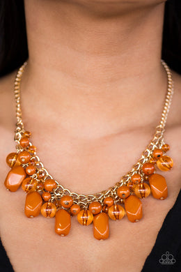 Newport Native - Paparazzi Orange Necklace - BlingbyAshleyNicole