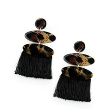 Load image into Gallery viewer, No One Likes A CHEETAH - Paparazzi Black Post Earrings - BlingbyAshleyNicole