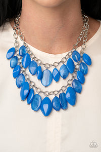 Palm Beach Beauty | Paparazzi Blue Necklace - BlingbyAshleyNicole