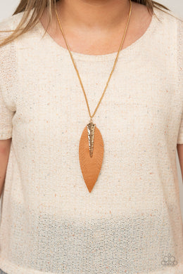 Quill Quest | Paparazzi Gold Necklace - BlingbyAshleyNicole