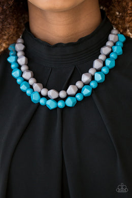 Rio Rhythm - Blue Necklace - BlingbyAshleyNicole