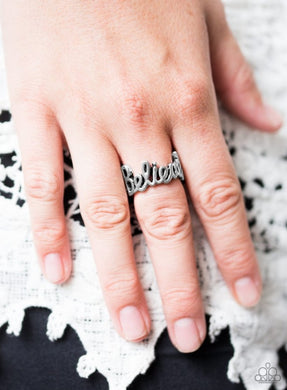 When You Believe - Silver Paparazzi Ring - BlingbyAshleyNicole