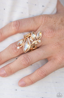 Beautifully Botanical |Paparazzi Gold Ring - BlingbyAshleyNicole