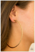 Load image into Gallery viewer, Size Them Up - Gold Earrings - BlingbyAshleyNicole