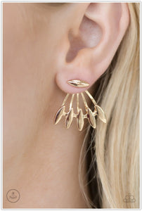 Radically Rebel - Gold Earring - BlingbyAshleyNicole