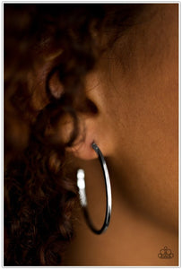 Classically Chic - Silver Hoop Earring - BlingbyAshleyNicole