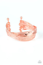 Load image into Gallery viewer, See A Pattern? - Paparazzi Copper Bracelet - BlingbyAshleyNicole
