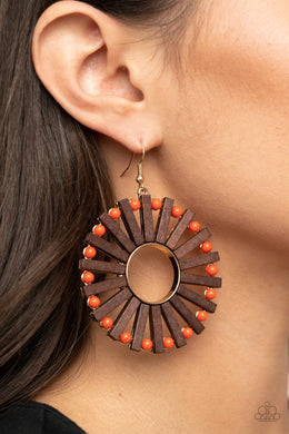 Solar Flare | Paparazzi Orange Earring - BlingbyAshleyNicole